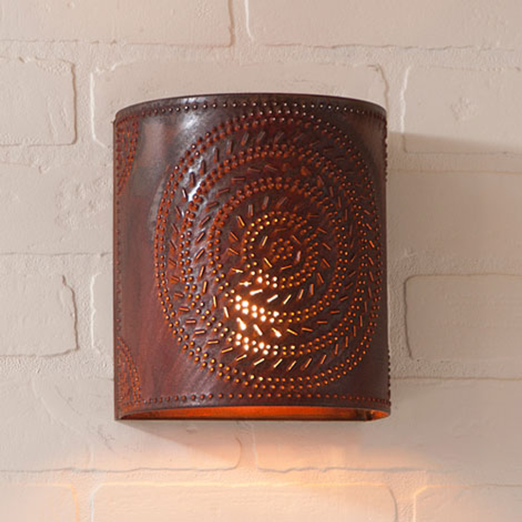 Irvin's Chisel Sconce Finished In Rustic Tin