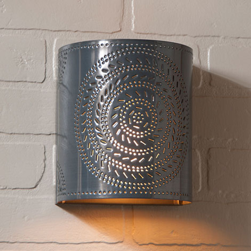 Irvin's Chisel Sconce Finished In Country Tin