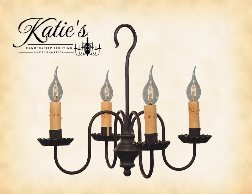 Katie's Handcrafted Lighting Peppermill Metal Chandelier Finished In Aged Black