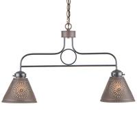 Irvin's Franklin Medium Hanging Light With Chisel Design Finished in Kettle Black