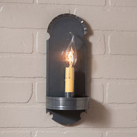 Irvin's Foot Sconce Finished In Country Tin