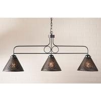 Irvin's Franklin Large Hanging Light With Chisel Design Finished In Kettle Black