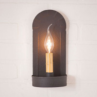 Irvin's Fireplace Sconce Finished In Textured Black