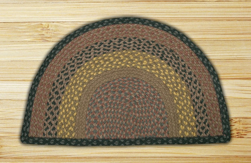 Earth Rugs™ Slice Braided Jute Rug Pictured In: Brown, Black, & Charcoal
