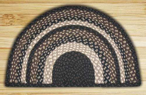Earth Rugs™ Slice Braided Jute Rug Pictured In: Mocha, & Frappuccino