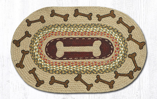 Earth Rugs™ Oval Patch Rug - Dog Bones - OP-024