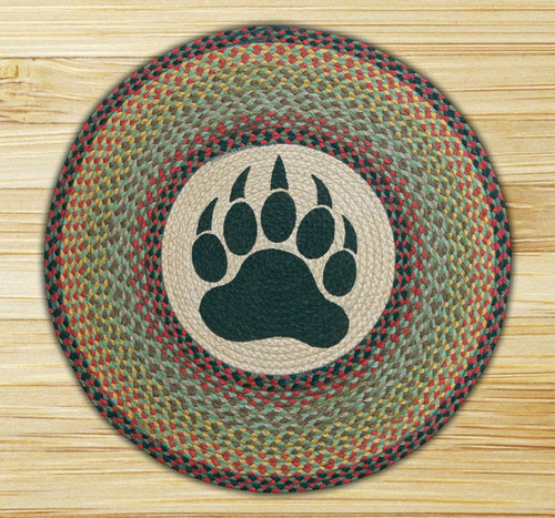 Earth Rugs™ Oval Patch Rug - Bear Paw - RP-081
