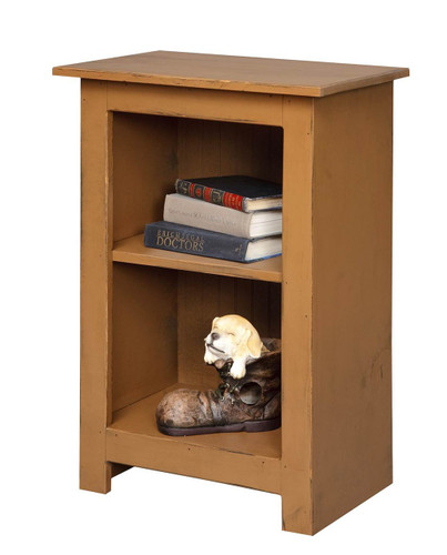Amish Handcrafted 3 Foot Narrow Bookcase by Vintage Creations By Sam - Finished In Distressed Finish, Mustard