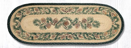 Earth Rugs™ Braided Jute Oval Table Runner: Pinecone 025A