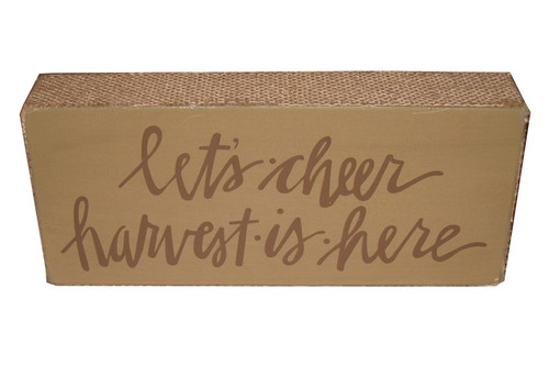 Let's Cheer Harvest Is Here Sign
