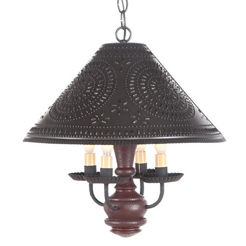 Irvin's Homespun Shade Light In Americana Plantation Red