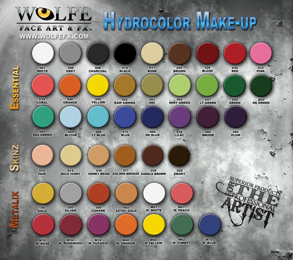 Hydrocolor 12 Color Palette Wolfefx