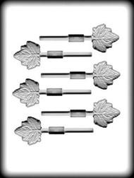 Sucker Molds, High Heat White Plastic Mold - Maple Leaf  6 cavity