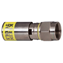 Klein Tools VDV812-612 Universal F Compression Connector RG6-R6Q Pk 50