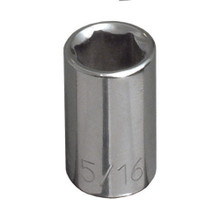 "Klein Tools 65607 7/16"" Std 6-Point Socket - 1/4"" Drive"
