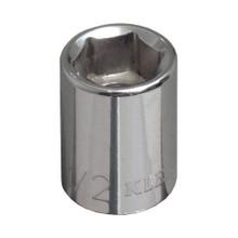 """Klein Tools 65702 1/2"""" Std 6-Point Socket - 3/8"""" Drive"""