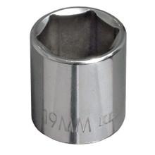"Klein Tools 65915 15 mm Metric 6-Point Socket - 3/8"" Drive"