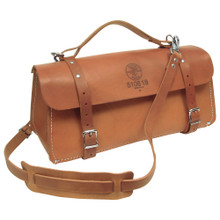 "Klein Tools 5108-18 18"" Deluxe Leather Bag"