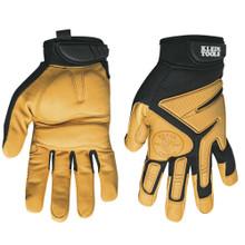 Klein Tools 40220 Journeyman Leather Gloves, M