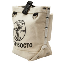 Klein Tools 5104OCTO Leather Bottom Bucket with Connections