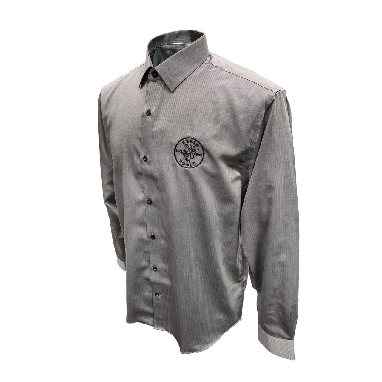 Klein Tools MBA00035-4 Mens Long Sleeve Shirt Gray, XXL - KTOOL