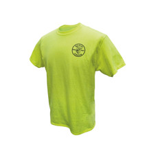 Klein Tools MBA00040-1 Green HiViz Safety T-Shirt, Medium