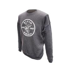 Klein Tools MBA00045-3 Crewneck Sweatshirt Grey, XL