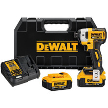 "Dewalt DCF887M2 20V MAX* XR® 1/4"" 3-Speed Impact Driver Kit (4.0Ah)"