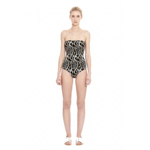 NARCISSUS BANDEAU ONE PIECE - FRONT