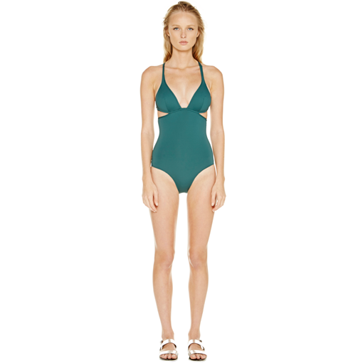 FORET TWIST BACK ONE PIECE - FRONT