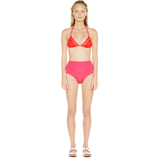 ROUGE TRANSPARENT TRIANGLE WITH FRAMBOISE HIGH WAISTED PANT - FRONT