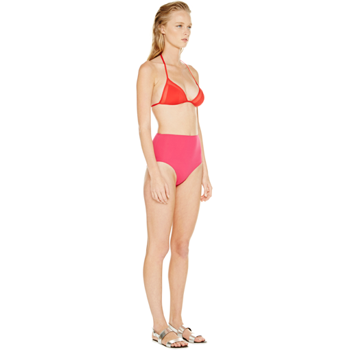 ROUGE TRANSPARENT TRIANGLE WITH FRAMBOISE HIGH WAISTED PANT - SIDE
