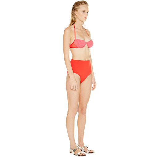 HYDRA UNDERWIRE BRA WITH ROUGE HIGH WAISTED PANT - SIDE