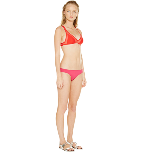 ROUGE TWIST BACK TOP WITH FRAMBOISE CLASSIC PANT - SIDE