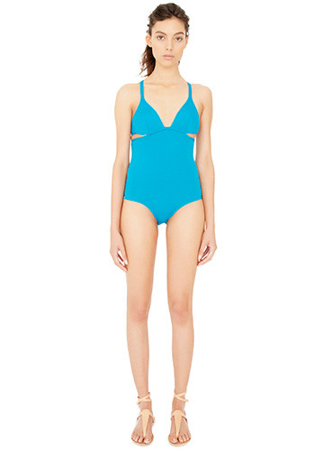 JADE TWIST BACK ONE PIECE FRONT