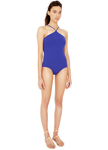 ATLANTIQUE HALTER ONE PIECE SIDE