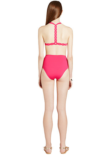FRAMBOISE SWERVE BIKINI WITH HIGH WAISTED PANT BACK