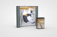 8 Foot Economy Plus Curve Graphic/Fabric Kit