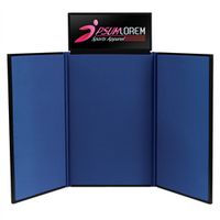 Fast Trak 4' Tri-Fold Tabletop Display with Header Graphic