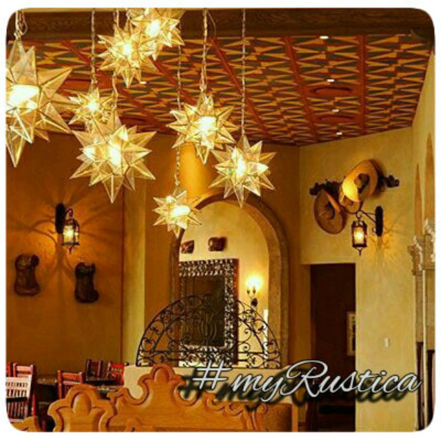 mexican tin star lamps