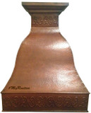 copper metal range hood