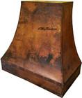 copper metal vent hood side view