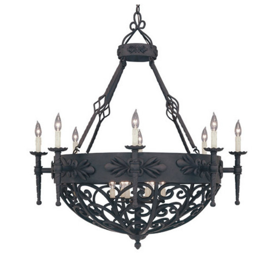 forged iron chandelier on sale