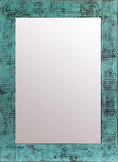 green color copper mirror