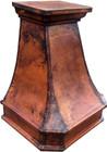 """30"""" copper range hood side view"""