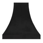 zinc range hood cover dark metal