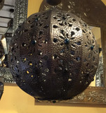 rustic metal sphere ceiling lamp cover