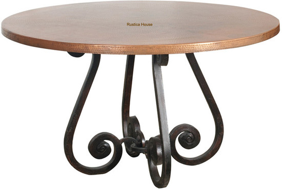 classic colonial copper table