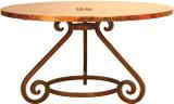 bistro copper table