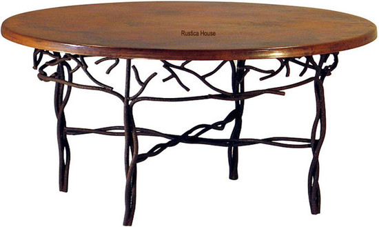 handcrafted copper table